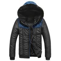 2014 new mens winter jacket men's hooded wadded coat outerwear male slim casual cotton outdoors outwear down jacket