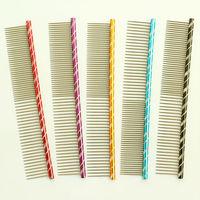 dreambows Vertical stripes Pet Dog Comb 62003 Shaggy Dog Grooming Comb 5 Color