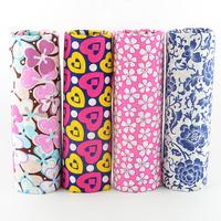 FREE SHIPPING 4 piece 45x50cm pink blue poplin cotton fabric fat quarter dress sewing cloth tecido quilt telas patchwork W4B1-3