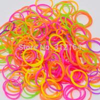 300 PCS  Rubber Bands Loom Set Multy Colors Option fluorescence color DIY Bracelet Anklet opp bag 10 bag=Single color BOS.L30
