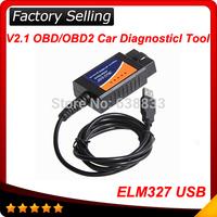 2014 Top selling ELM327 Interface USB OBD2 Auto Scanner V1.5 OBDII OBD 2 II elm327 usb Super scanner