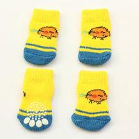 dreambows 81018 Cartoon Chicks Pattern Pet Dog Latex Skid-Proof Socks Free Shipping S, M Size