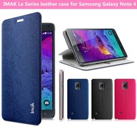 IMAK Le Series leather case for Samsung Galaxy Note 4 N9100 flip cover case with retail package