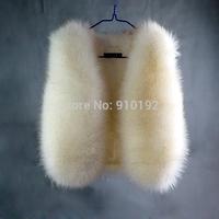 2014 Miss New Discounted Winter fox fur short paragraph imitation rabbit waistcoat vest