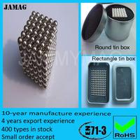 Jamag 216pcs*5mm sphere neodymium magnet ball cubes 100 sets
