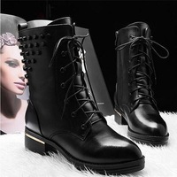 Hot sale 2014 New England style fashion Women's winter boots rivet Martin boots Women ankle boots shoes