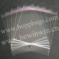 11.5x18cm opp plastic poly packaging Hang Hole Bags with header and self adhesive seal & Free Shipping