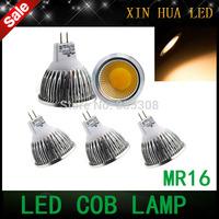 High quality  Cree led  MR16 GU10   6w 9w 12w 12v  COB  dimmable Spotlight  cob lamp  bulbs warm/cool white  free shipping!