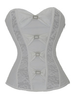 new sexy plastic bonings lace up back corsage corsetbustier 1594