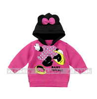 1-5T Children Girls Hoody Sweatshirt Mouse Pattern Children Girls Hoodies Kids Clothes Children Clothing Roupas Meninos WB-50