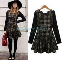 Fashion Long-sleeved Dress Casual Dress Autumn Dress Free Shipping