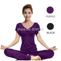 Fashion Short Sleeves sportswear women 95% Modal Charm Breathable sports/dancing clothes yoga set clothing Female 2Pcs/Set