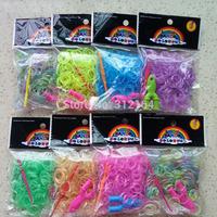 300 PCS Glow in Dark Rubber Bands Loom Set Multy Colors Option fluorescence color DIY Bracelet Anklet  BOS.L1