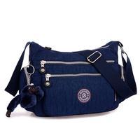 2014 women's solid travel waterproof handbags shoulder messenger nylon bags for women ladies female bolsa fashion