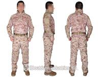 EMERSON Riot Style CAMO Uniform Set combat airsoft uniform tactical Shirt & Pants with elbow & knee pads EM6894R1 AOR1