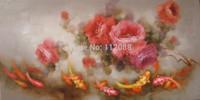 High quality!100% handmade  Modern  art  Goldfish and flowers art large  art  handpaint oil painting on canvas
