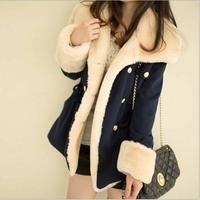 2014 winter warm coats women wool slim double breasted wool coat winter jacket women fur women's coat jackets new