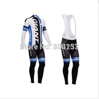Free Shipping!2014 new bicycle giant cycling jersey bicicleta Ropa ciclismo bike maillot long cycling clothing bibs pants set