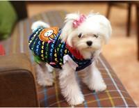 Lovely Rabbit Dog Witner Clothes Wholesale Dog Cat Jumpsuit Clothes Coat Pet Clothing 5pcs/lot Red Blue 5 Sizes Available