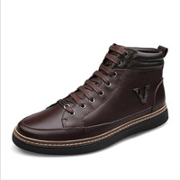 Plus Size 38-48 Men Genuine Leather Ankle Boots Man Autumn & Winter Fashion Boot Soft Leather New Arrival Mens Bota