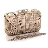 Bow Diamond Day Clutch Evening Bags Women Rhinestone Evening Bag Luxury 4 Colors Wedding Handbags With Chain