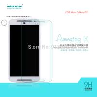 Free shipping 5pcs NILLKIN Amazing H Nanometer Anti-Explosion Glass Screen Protectors for MOTO G MOTO G2  case