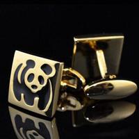 1 Pair Male Gift High Quality Panda Pattern Metal Cufflinks Shirt Cuff Links For Wedding Men Jewelry Free Shipping