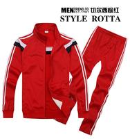 2015 New Real Madrid brand Unisex Suits SportsWear Youth/Kids/men 14 15 long-sleeve tracksuit sport suit lesure jacket+pants