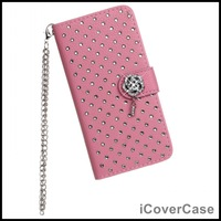 Full Bling Diamond Wallet Leather Case for iPhone 6 4.7