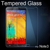 Tempered Glass Screen Protector For Samsung Galaxy Note3 High Quality 2.5D Protective Film For N7100 0.3mm Clear Film HD 0319