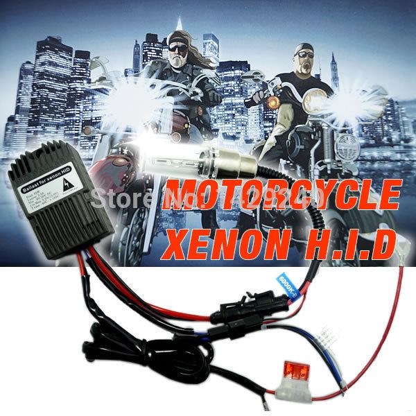 4in1 Universal H6M/H4/P15D25-3/S2(BA20D) 35W MOTORCYCLE Bi-Xenon Slim Hi/Lo Beam HID KITS #SQ3849(China (Mainland))