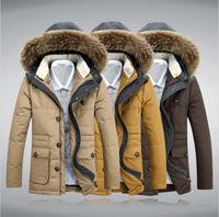 2014 New Fashion Thick Men Winter Jacket Long Hooded Plus Size Men Coat Winter Size S,M,L,XL,2XL,3XL