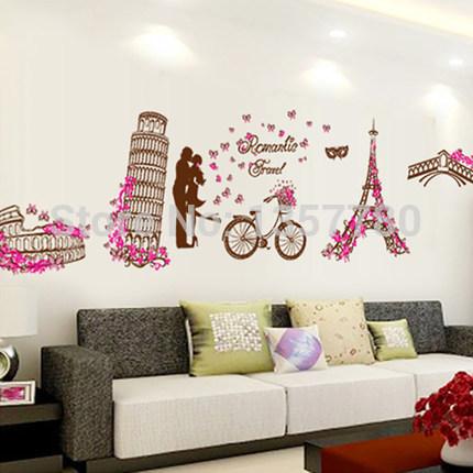 Muurstickers idee n promotie winkel voor promoties muurstickers idee n op - Decoratie romantische slaapkamer ...
