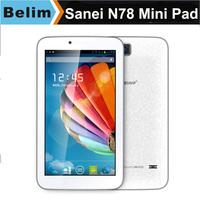 "Sanei N78 Quad Core Tablet PC 7"" Capacitive Screen 512M RAM 8G ROM Dual Camera WiFi Student/Kids Tablet Mini PC Free Shipping"