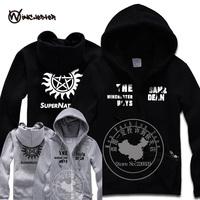 New 2014 men Supernatural cardigan sweatshirt samdeam autumn winter fleece hoody men sportswear hoodies tracksuits hip hop