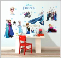 Free Shipping New Arrival Hot Selling Frozen Cartoon Princess Room Decal Decor Removable Vinyl Wall Stickers Large Size 60*90cm