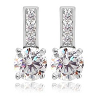 2014 fashion jewelry for women 925 sterling sliver earrings crystal earringsjewelry 2014 fall fashion for women M119