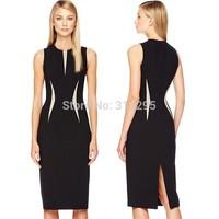 Freeship Top Quality 5T5102 S,M,L XL,XXL 2014 New Women OL Work Dress Vintage Brand Pencil Dress High Street Evevning Dress