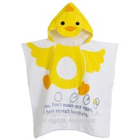New Arrival 2014 Hot Selling Baby Bathrobe chook Pattern Polyester And Cotton Towel 10 to 12 Months Baby Towel WB-039