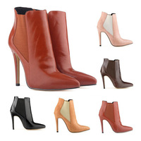New Fashion Plus Size 35-42 Women's Shoes Pointed Toe High Thin Heels Elastic Band Party Dress Ankle Boots #769-2