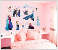 Big Promotion !!! 60x90cm New Cartoon Frozen Wall Stickers Nursery Children's Kid Room Sticker Decor Home Decoration Removable