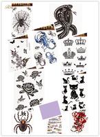 2014 Hot Sale Temporary Tattoo Body Sticker Sexy Women Tattoo Sticker Animals/Flowers/Letters Pattern  Temporary Tattoo