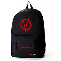 Free shipping Tide film V for Vendetta V for Vendetta mask Rangers male and female students backpack bag computer bag DIY Made