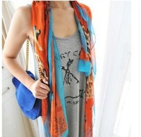 Wholesale Free Post --b003 H home the same paragraph locate long effort Luzhuang color printing shawl scarf
