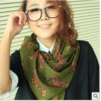 Wholesale Free Mail - Cotton Flax B012 zebra scarf, voile scarf wholesale