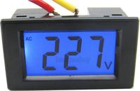 10PCS/LOT AC 80-500V LCD digital voltage volt panel meter voltage tester Monitor gauge display black shell 110V 220V 380V
