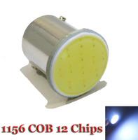 10X1156 COB LED Reverse Lights, 12Chip Bulbs BA15S Car Rear Light Wholesale P21W Parking Lights