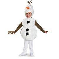 Frozen Olaf Costume Kids Snowman Cosplay  Halloween Costume for Children