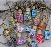 15 ml Car hang decoration Ceramic essence oil Perfume bottle Hang rope empty bottle