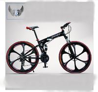 Mountain bike Strike Force double disc brakes mountain bike 26 inch folding bike overall wheel soft tail framefree shipping